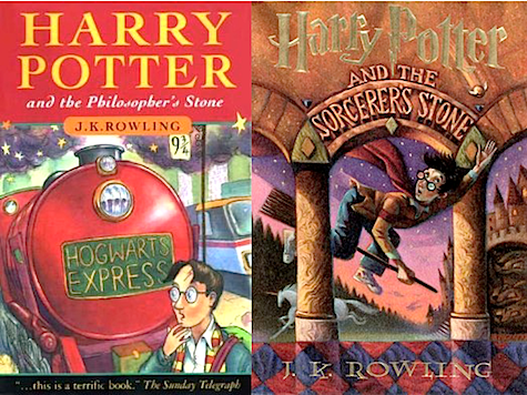 Harry Potter and the Philospher's Sorcerer's Stone, covers