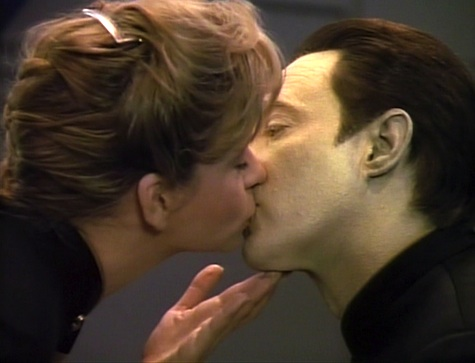 Image result for star trek data kissing women