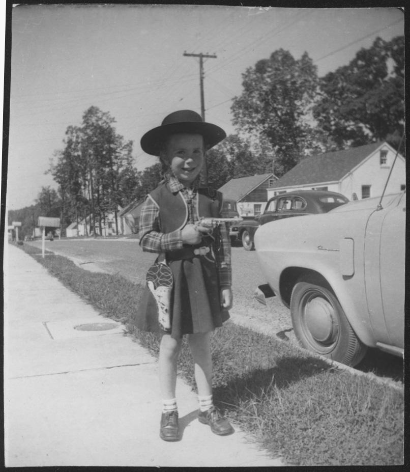 Joan Vinge, little cowgirl