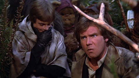 Image result for return of the jedi han solo capture by ewoks