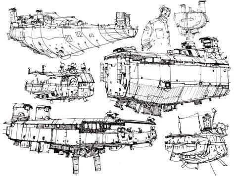 Ian McQue, sketches