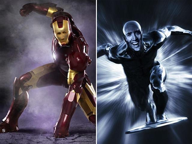 Nicolas Cage as everyone Iron Man Silver Surfer
