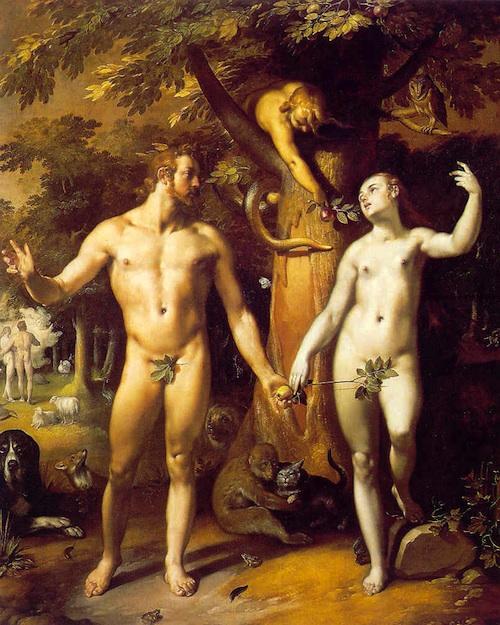 The Original Sin, Cornelius van Haarlem, 1592