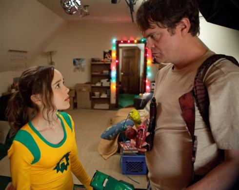 Ellen Page and Rainn Wilson in Super