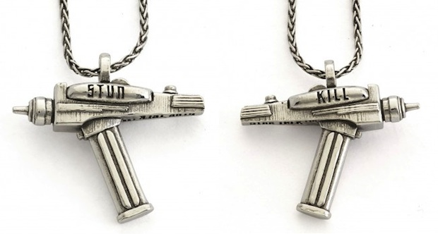 RockLove Star Trek jewelry phaser necklace