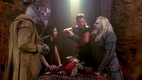 Farscape: The Peacekeeper Wars, Crichton, Aeryn, Rygel, Grunchlk, diagnosian