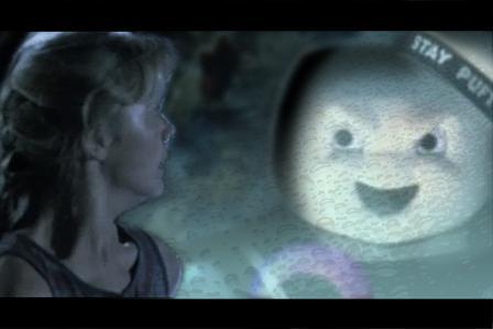 #AddAPuftRuinAMovie Stay Puft Marshmallow Man Ghostbusters best of Jurassic Park dinosaur