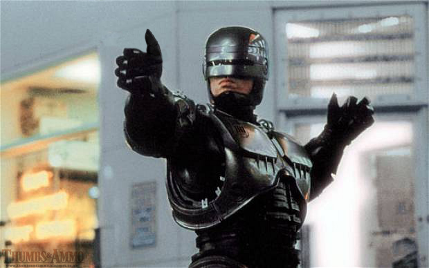 Robocop needs a ride.