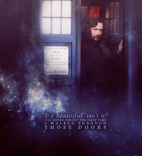 Doctor Potter meme Doctor Who Harry Potter crossover TARDIS Sirius