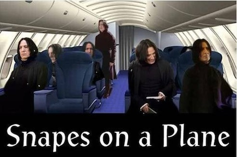 best Harry Potter memes Snapes on a Plane