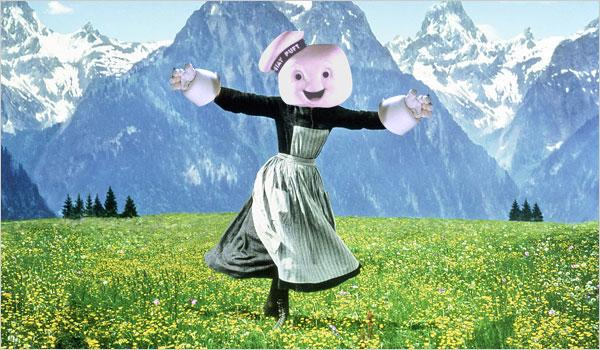 #AddAPuftRuinAMovie Stay Puft Marshmallow Man Ghostbusters best of Sound of Music