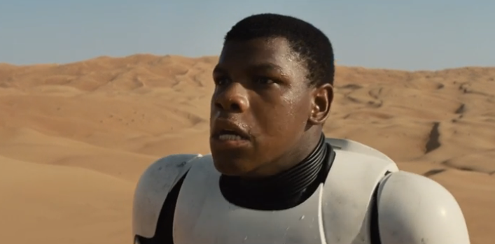 Is John Boyega a Stormtrooper as rumored or just disguised as one?