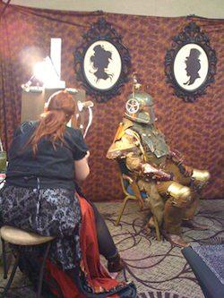 Amy Houser paints Steam Boba Fett