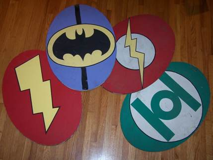 Legend of the Superheroes set pieces