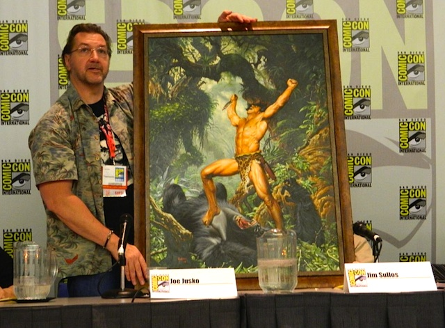 Joe Jusko and his newest Tarzan painting