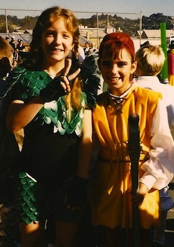 childhood Halloween costume Tenel Ka Star Wars
