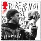 David Tennant as Hamlet stamp