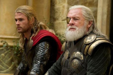 Thor the darkworld, thor and odin, chris hemsworth, anthony hopkins
