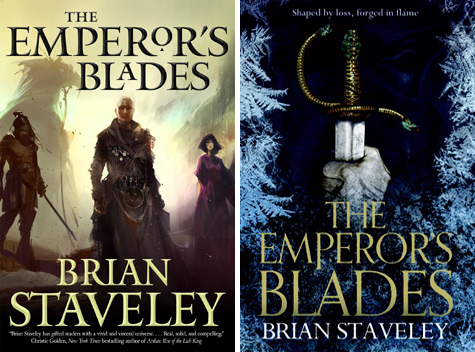 Left, US cover; Right, UK cover.