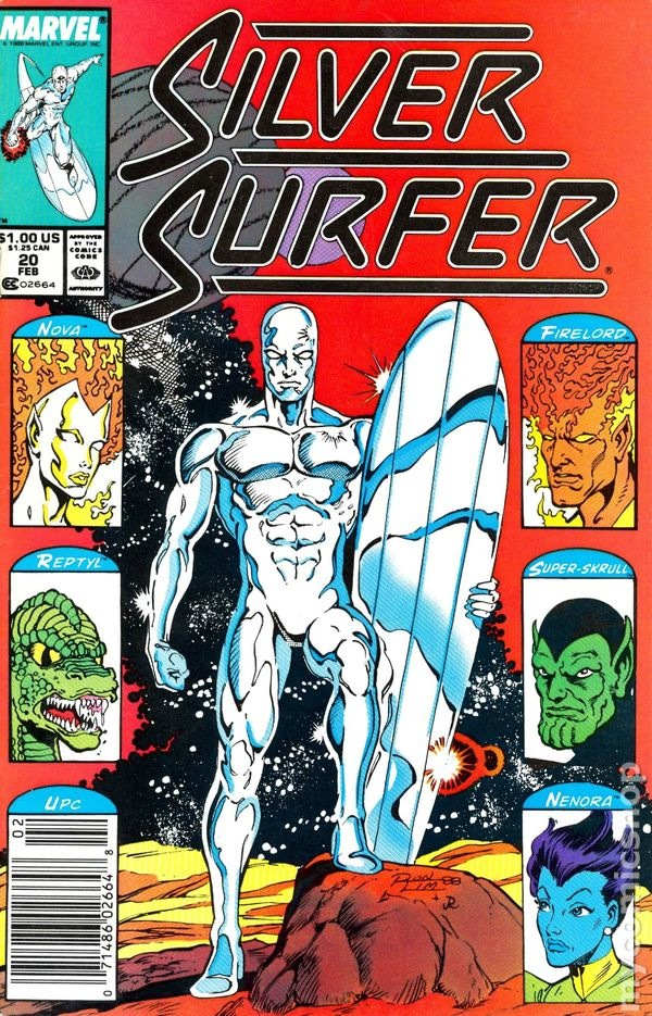 Silver Surfer body paint comic book cover