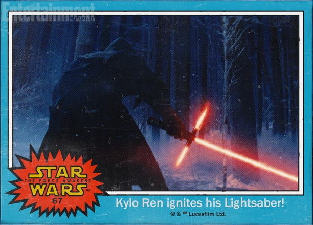 Star Wars: The Force Awakens character names Kylo Ren Adam Driver crossguard lightsaber