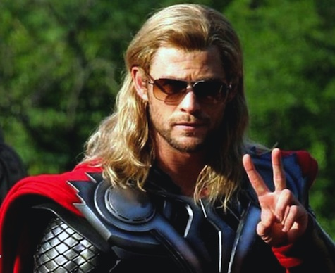 thor chris hemsworth the avengers sunglasses