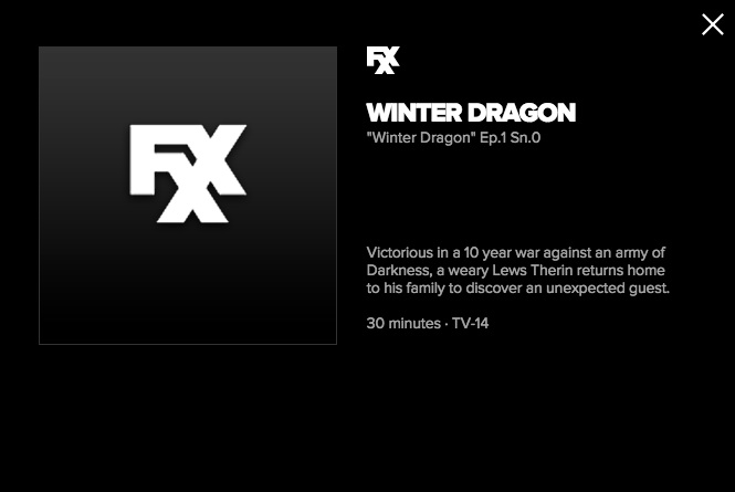 The Wheel of Time Winter Dragon FXX