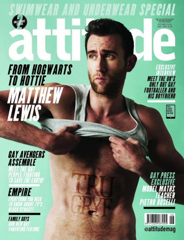 Matthew Lewis Neville Longbottom Attitude Magazine