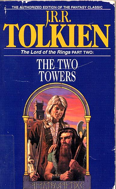 The Two Towers book cover Legolas hair