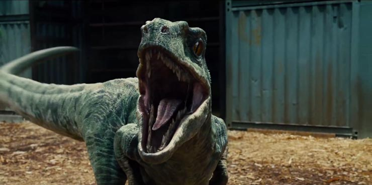 Jurassic World raptor Blue