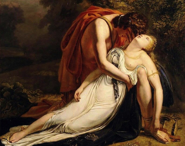 """""""Orpheus Mourning The Death of Eurydice"""" by Ary Scheffer, 1814"""