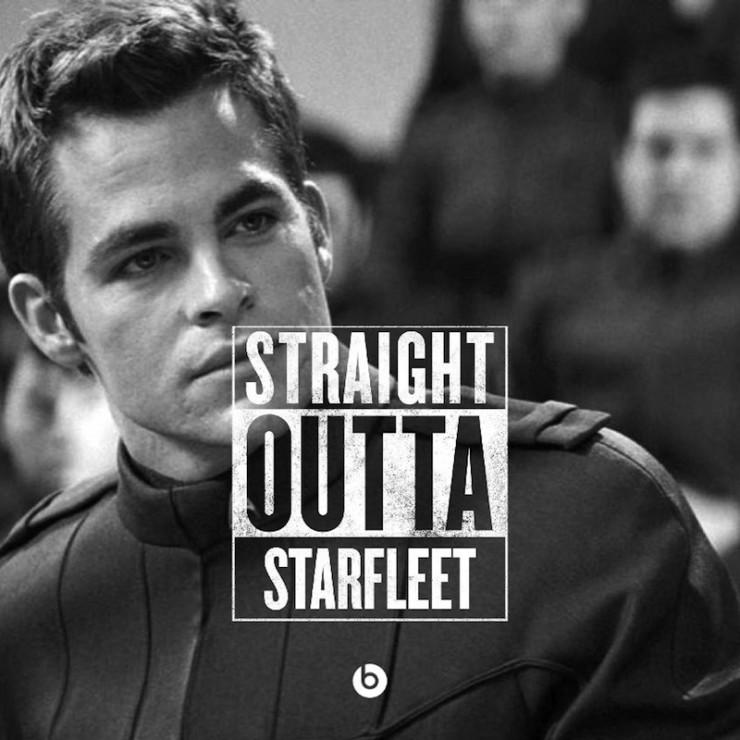 #StraightOutta geeky meme Starfleet Kirk