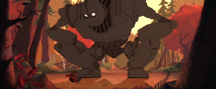 Iron Giant meeting forest