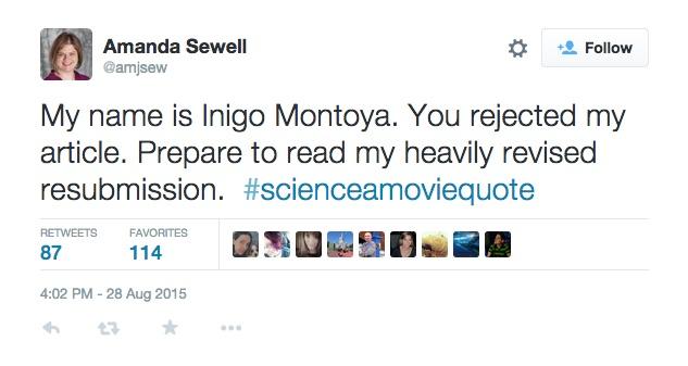 #ScienceAMovieQuote Twitter meme