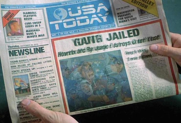 Back to the Future USA Today Original