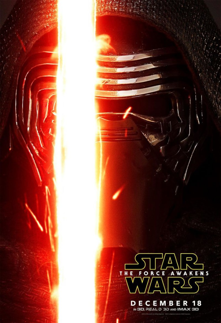 Star Wars: The Force Awakens character posters Kylo Ren