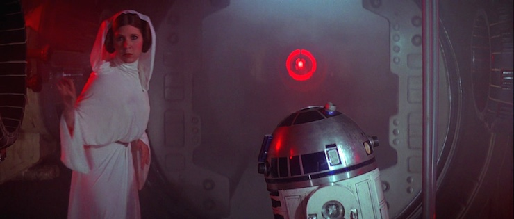 Leia A New Hope Death Star plans