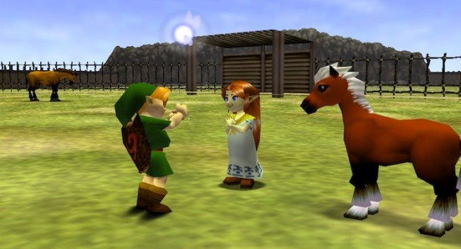 Epona with Link in Ocarina of Time