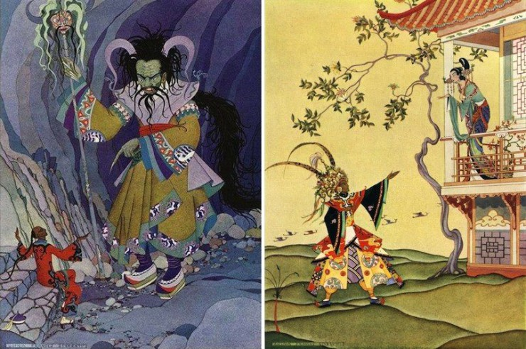 Virginia Frances Sterrett's illustrations for a 1928 edition of The Arabian Nights