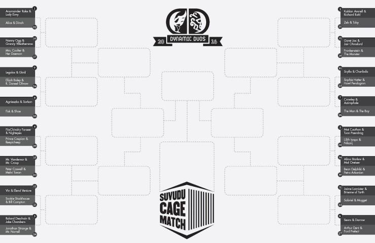 Suvudu Cage Match 2016 Dynamic Duos bracket Round 1