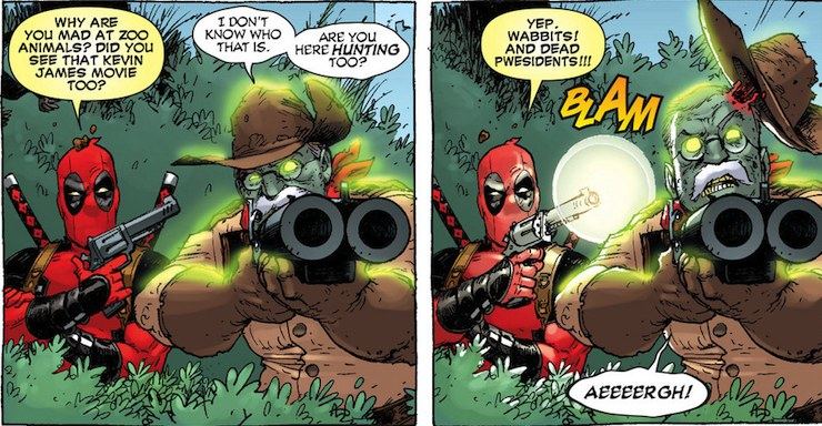 Deadpool and Teddy Roosevelt