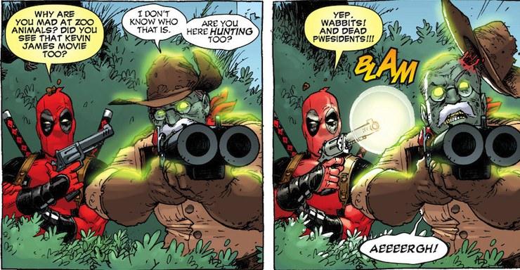 Deadpool and Teddy Roosevelt