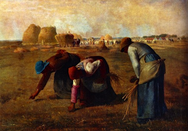 """""""The Gleaners"""" by Jean-Francois Millet, 1857"""