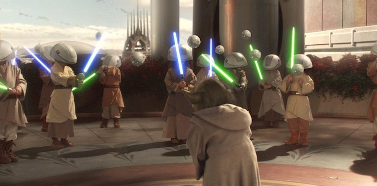 Jedi Younglings, Yoda, Star Wars Episode II, Attack of the Clones