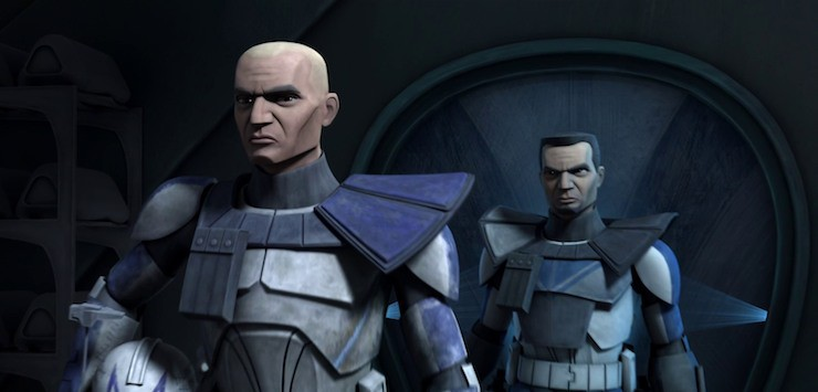 Star Wars the Clone Wars, Rex and Fives