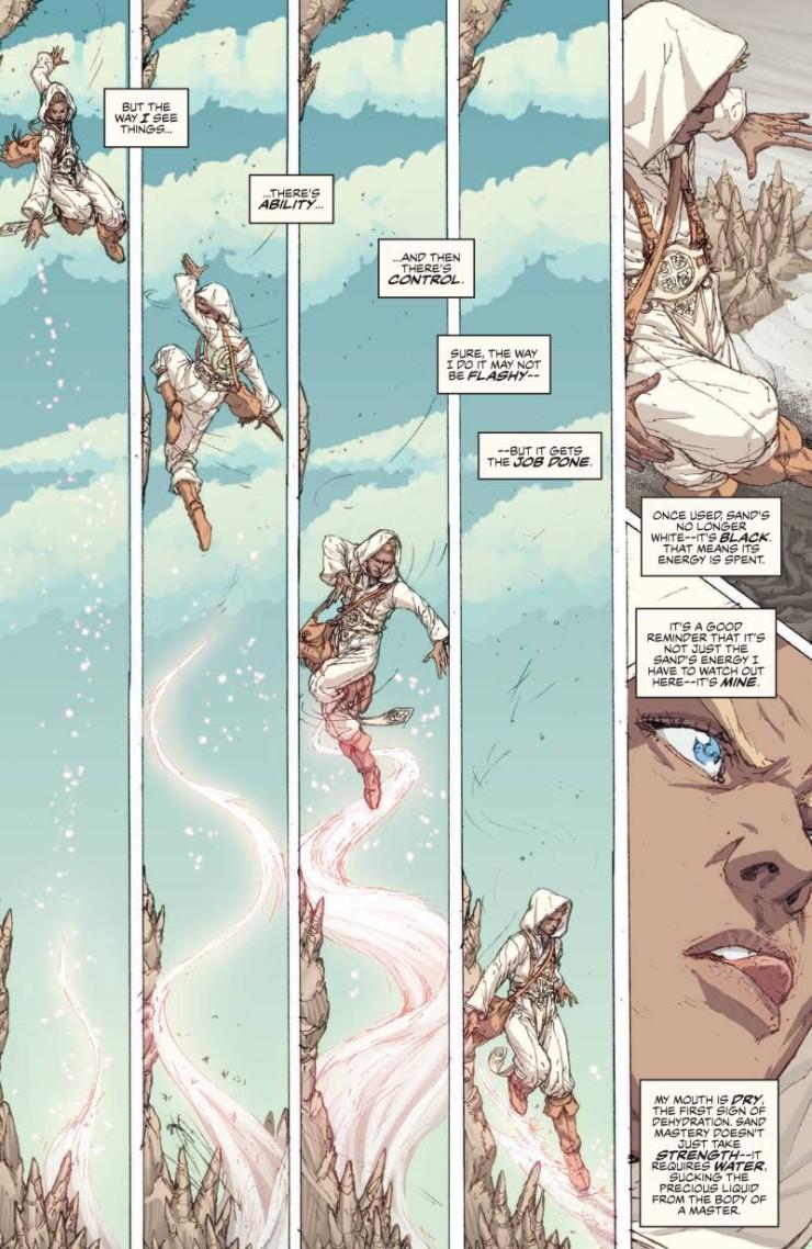 Brandon Sanderson White Sand graphic novel preview pages art
