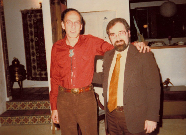 Roger Zelazny (l.) with Ted Krulik, 1982
