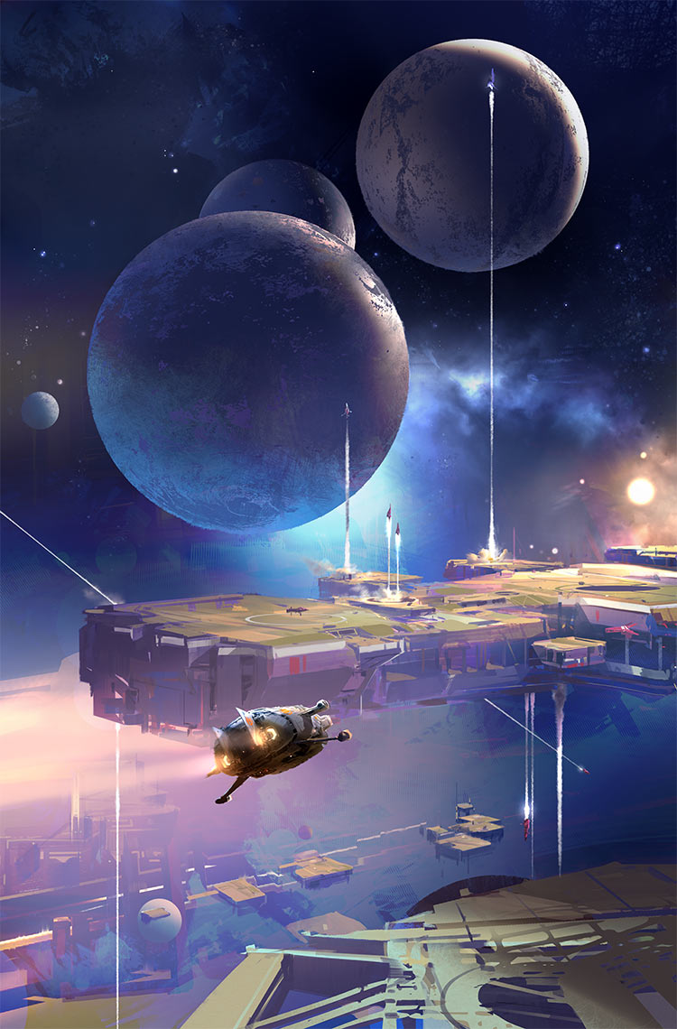 The Collapsing Empire John Scalzi cover art only Sparth
