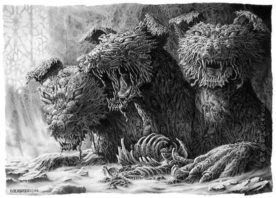 Todd Lockwood Cerberus art