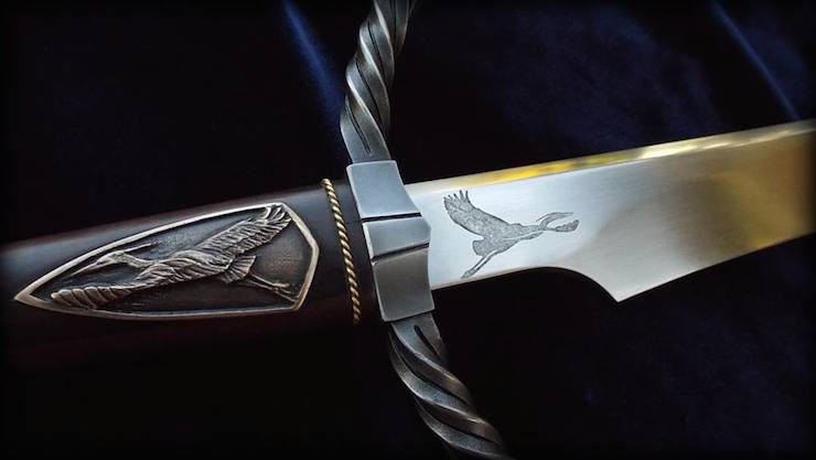 Heron mark sword Brendan Olszowy